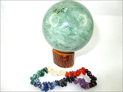 Jet Green Aventurine 45-50 mm Ball Sphere Gemstone A+ Hand Carved Crystal Altar Healing Devotional Focus Spiritual Chakra Cleansing Crystal Therapy Booklet Image is JUST A Reference