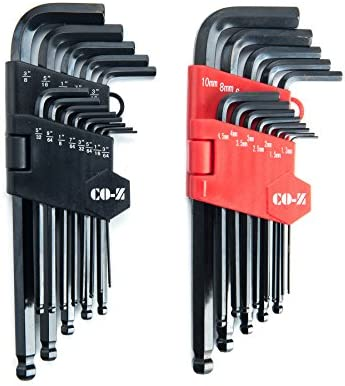 CO Z Hex Key Allen Wrenches 26 Pcs Metric Inch Ball End Long Hex Tool Set Folding L Keys with product image