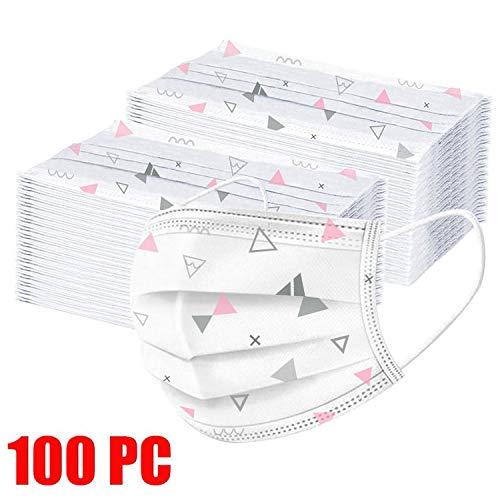 MaNMaNing Protección 3 Capas Transpirables con Elástico para Los Oídos Pack 100 unidades 20200708-MANING-A/N100 (Adulto)