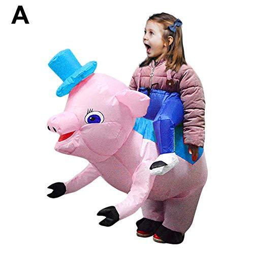 Opblaasbaar dierencirkelsvaren, voor volwassenen en kinderen, het grappige kostuum voor binnen en buiten kleedt. A: de blauwe hoed van de kinderen.