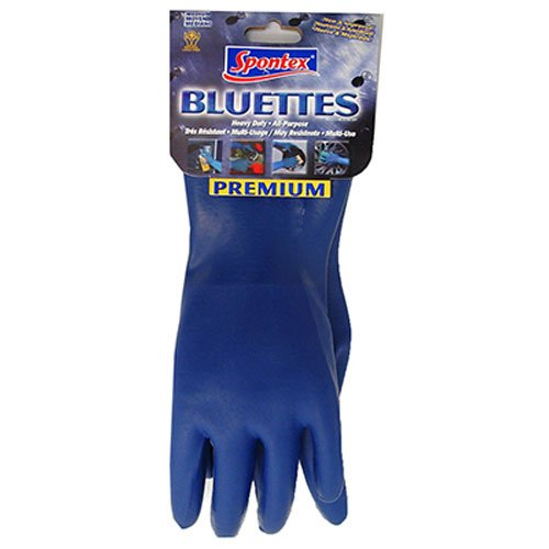 SPONTEX 20005 Household Gloves, X-Large, Blue