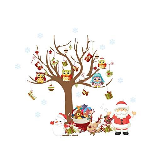GGOOD Weihnachtswand-Aufkleber Weihnachtsmann Schneemann-Muster-Kinder Nach Hause Dekor-abziehbild-wandaufkleber Entfernbare Wand-Aufkleber Murals Für DIY Dekorationen Für Brillen Shops Fenster