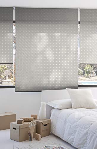 Estoralis MOTAS-2 rolgordijn lichtdoorlatend digitaal, polyester, beige, 110 x 250 cm