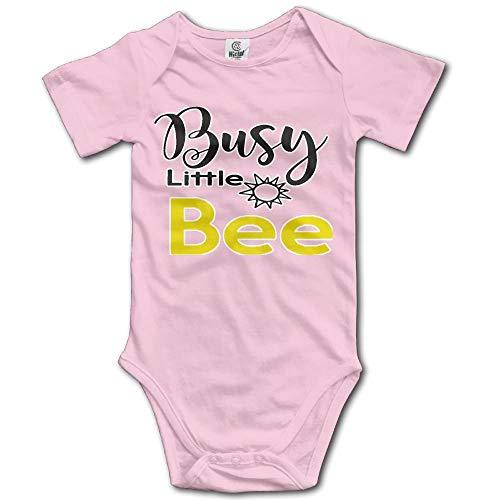 SDGSS Combinaison Bébé Bodysuits Busy Little Bee Newborn Unisex Baby One-Piece Suit 100% Cotton Romper Outfits Bathing Clothes Black