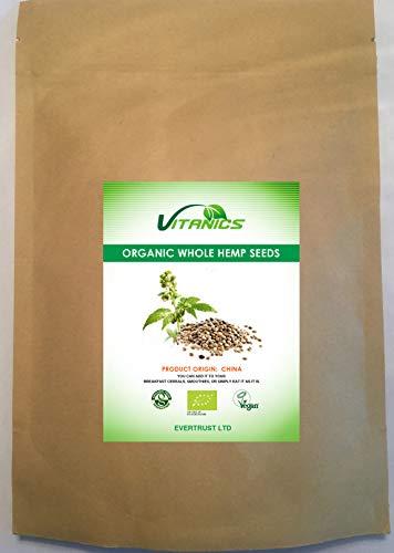 Semillas de Cáñamo Enteras Organico (500g)
