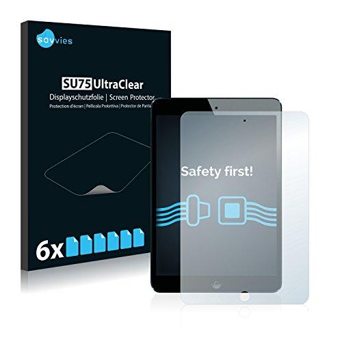 savvies 6-Pezzi Pellicola Protettiva Compatibile con iPad Mini Mini 2 Protezione Schermo Trasparente