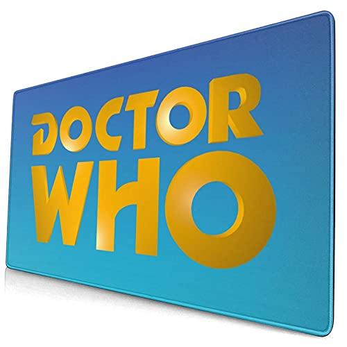 Doc-tor Wh-o - Alfombrilla de escritorio antideslizante para escritorio, impermeable, de piel de PVC, fácil de limpiar, alfombrilla de escritura, para oficina o hogar, decoración de 40 x 74 cm
