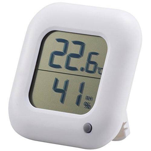 オーム電機 OHM デジタル温湿度計 ホワイト インフルエンザ 熱中症対策 温度計 湿度計_TEM-100-W 08-0062