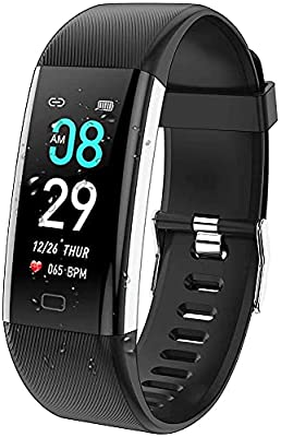 ANCwear Fitness Tracker Watch, Activity Tracker Health Exercise Watch with Heart Rate Monitor Waterproof IP68 Smart Fitness Band with Sleep Monitor, Step counter Pedometer Watch for Men Women Kids by ANCwear