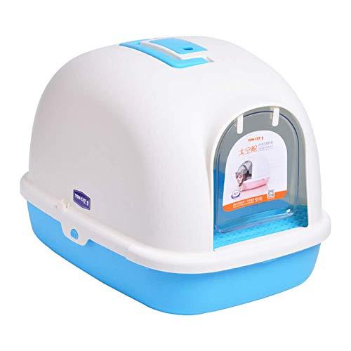 Bandeja de arena para gatos, grandes cajas de arena cerradas con cúpula, filtro transparente, fácil de limpiar con capucha