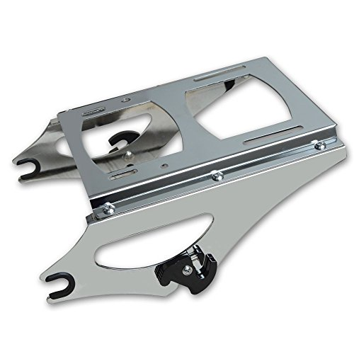 ECOTRIC Chrome Detachable 2 Up Tour Pak Pack Mounting Rack for Harley Touring 2009-2013