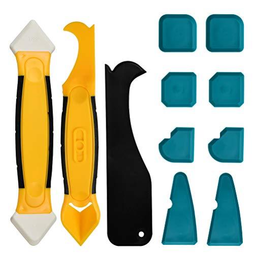 FOROREH Silikonentferner Silikon Fugenwerkzeug, Multifunktionale Profi Silikon Werkzeug Schaber Set für Küche Badezimmer Bode