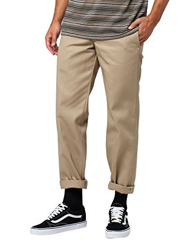 Dickies Slim Fit Straight - Pantalones para hombre, Beige (Caqui), W36/L32