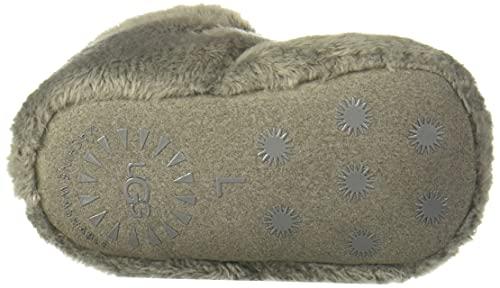 UGG baby girls Bixbee Ankle Boot, Charcoal, 2-3 Infant US