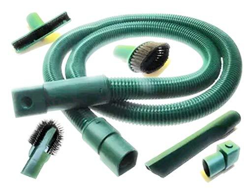 Xavax 1 Tubo Flessibile + Set Accessori Folletto VK 120 121 122 130 131 135 136 140 150, 220 W, 1 Liter, 74 Decibel, Plastica, Verde
