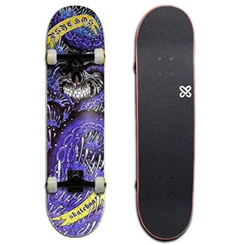 HBJP Skateboard Longboard tavola da Ballo a Doppia orditura Lunga tavola da...
