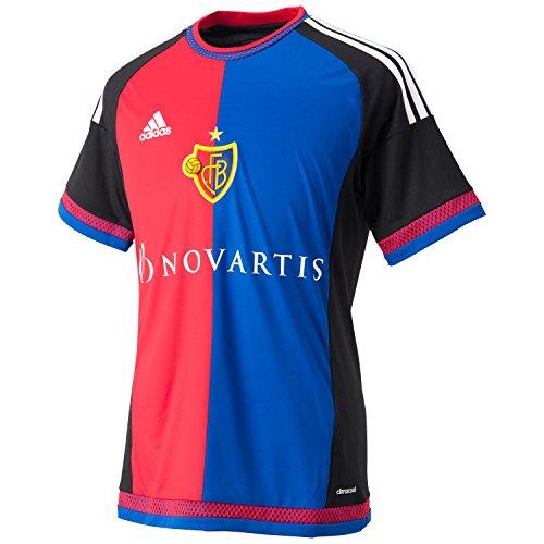 adidas Herren Trikot FC Basel Replica Spieler-Heim, Black/White/Bold Red/Bold Blue, L