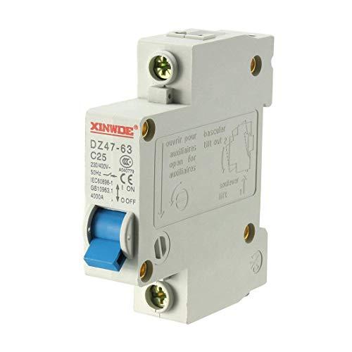 ZGQA-GQA 1 Pole 25A 230 / 400V miniatura de baja tensión Disyuntor Montaje en carril DIN DZ47-63 C25