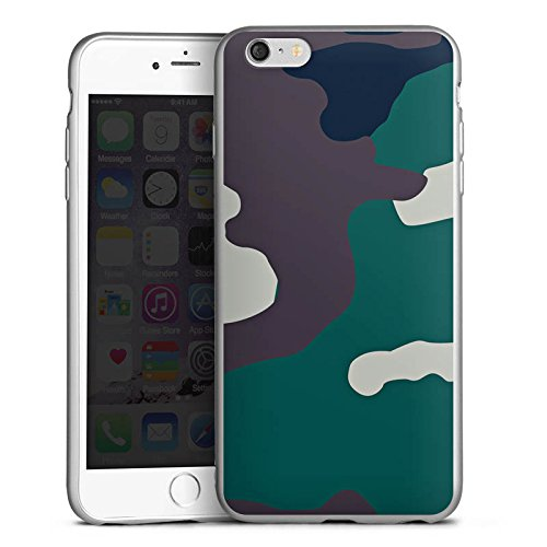 DeinDesign Cover kompatibel mit Apple iPhone 6s Plus Silikon Hülle Silber Case Schutzhülle Camouflage Bundeswehr Tarn Muster