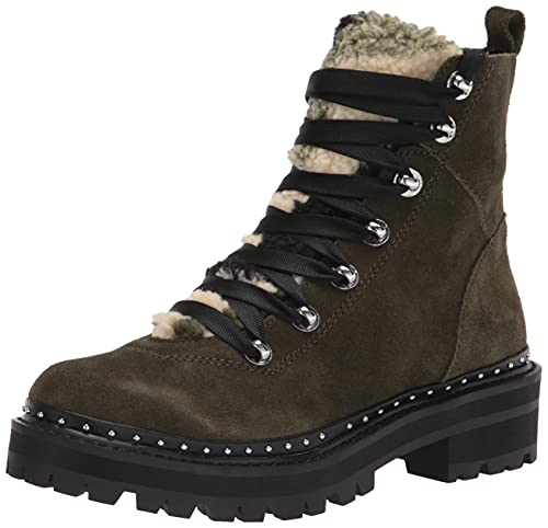 Steve Madden Women's Rainier Fashion Boot, Olive Suede, 8.5