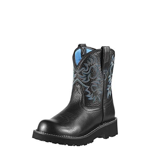 ARIAT Damen Fatbaby Cowboy-Stiefel, Black Deertan, 39.5 EU