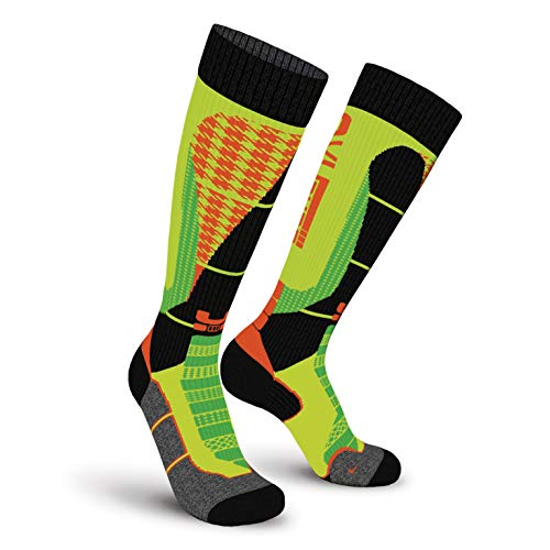 Oxyburn Snowboard 3Style Kneehigh Energizer Chaussettes Homme, Lime/Vanilla/Dream, Size 42/44