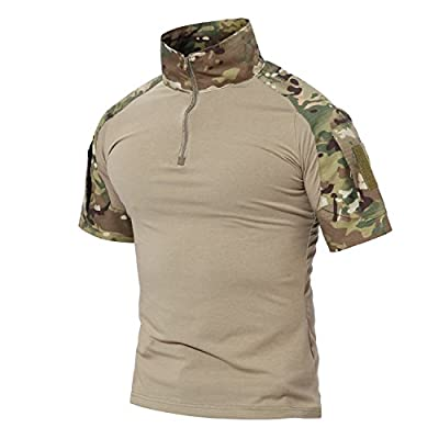 MAGCOMSEN Combat Shirts Men Tactical Shirts Camo Shirts T Shirts for Men Multicam Shirts Men Military Shirts Army Shirt Hiking Shirts Work Shirts Summer Shirts Fishing Shirts