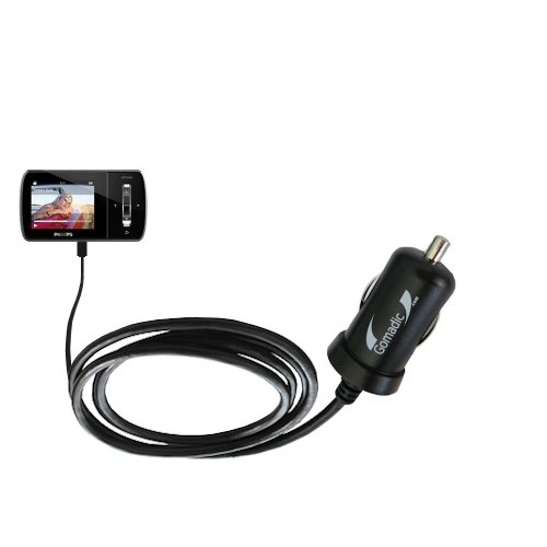 Gomadic Intelligent Compact Car / Auto DC Charger suitable for the Philips Aria (All GB Versions) - 2A / 10W power at half the size. Uses Gomadic TipExchange Technology