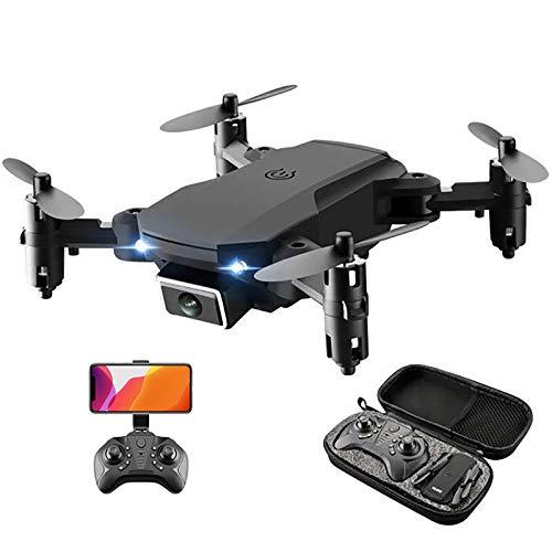 tyuiop Abejón de RC con Cámara 4K HD, WiFi FPV Juguete Quadcopter Plegable Modo Sin Cabeza 15 Minutos de Duración de La Batería Despegue y Aterrizaje/Regreso con Una Sola Tecla