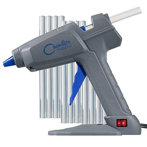 Chandler Tool Hot Glue Gun - 100 Watt Industrial Full Size High Temp Heavy Duty Hot Melt Glue Gun...