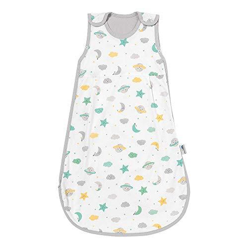 Schlummersack Moon & Stars - Saco de dormir para bebé (verano, 0,5 tog, 70 cm)