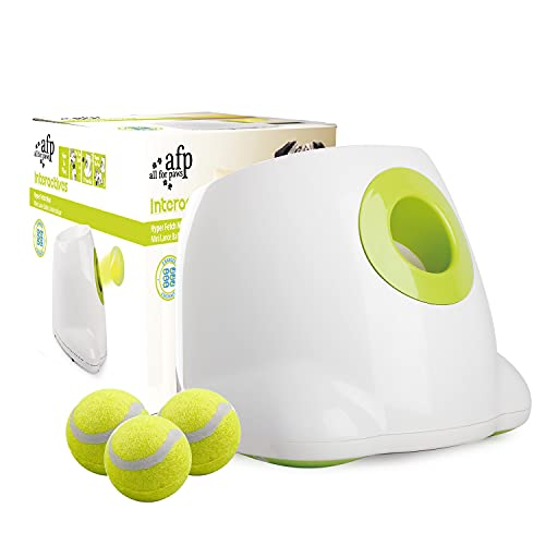 ALL FOR PAWS Dog Ball Launcher Automatic,Automatic Ball Launcher for Dogs,Ball Thrower for Dogs,Includes 3 Tennis Balls for Dogs (Large Size)