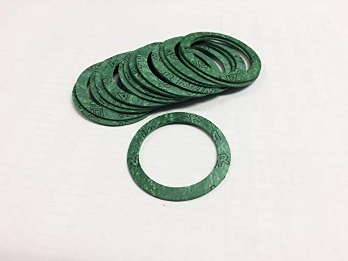 10 Stück Flachdichtung AFM, 1 1/4 Zoll Außendurchmesser: 38,00 mm Flachdichtung Heizung Sanitärinstallation Garten Wasser
