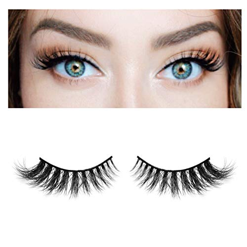BEPHOLAN Mink Lashes| 100% Siberian Mink Fur| 3D Mink Lashes| Natural Flare Look| 100% Handmade & Cruelty-Free| Reusable Lashes| XMZ04