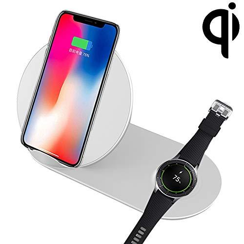 G-rf Draadloze Oplader N26-2 Qi Standaard Quick Draadloze oplader 10W, for iPhone, Galaxy, Xiaomi, Google, LG, Galaxy Kijk en andere QI Standard Smart Phones (zwart) (Color : White)