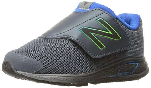 New Balance New Balance Boys' Vazee Rush Hook and Loop Running-Shoes, Grey/Blue, 2 M US Infant