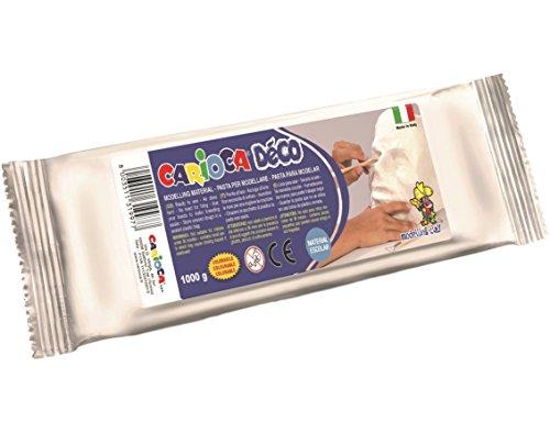 Carioca- Pasta para modelar, parecida a la Arcilla, Color Blanco, 1000 g (30997/31)