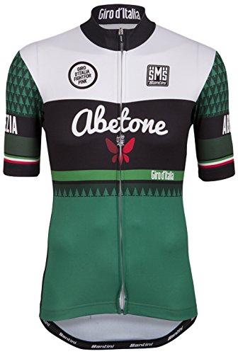 Santini Replica Abetone - Maillot de Ciclismo para Hombre, Color Verde, Talla...