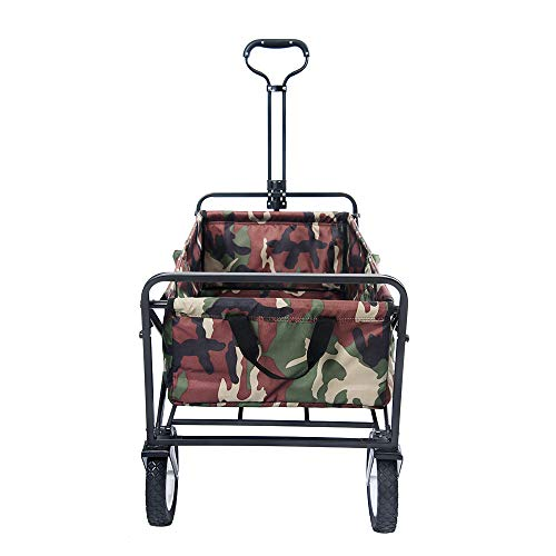 Jarl Home 迷彩キャリーワゴン キャリーカート 折畳み 耐荷重100kg 大容量103L台車 キャンプ レット