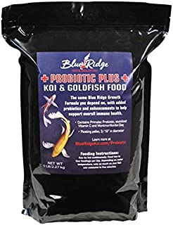 Blue Ridge Fish Food Pellets, Koi and Goldfish Probiotic Plus, Floating 3/16