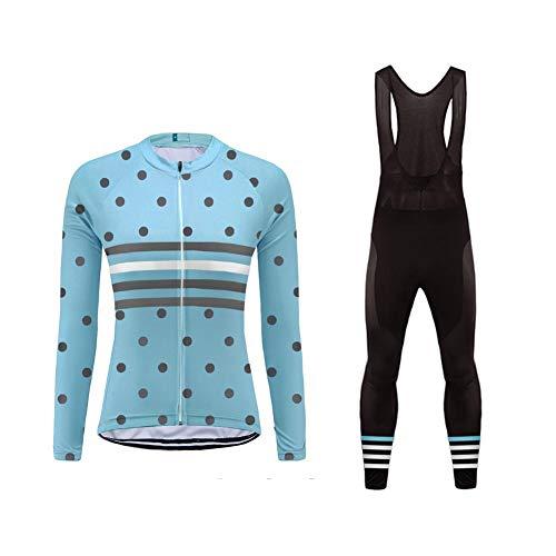 Uglyfrog Maillot Conjunto Ciclismo Culotte Ciclismo Invierno para Mujer Térmico DXWZ02