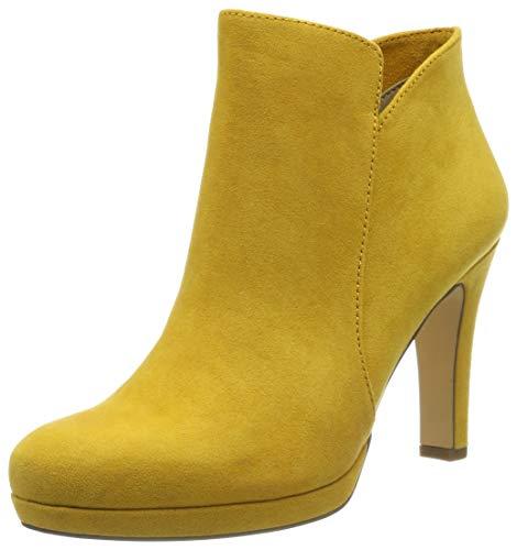 Botines amarillos de tacón fino para Mujer