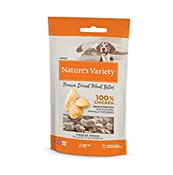 REVOLUTIONARY FREEZE-DRIED HEALTHY SNACK IRRESISTABLE TASTE 100% SINGLE PROTEIN MADE WITH QUALITY MEAT