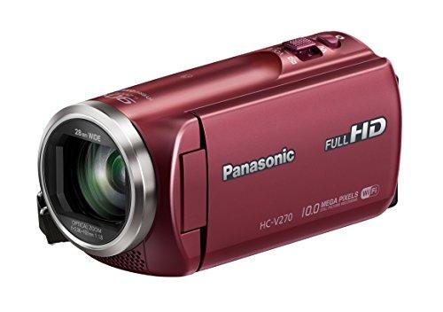 Panasonic HC-V270EG-R Videocamera, rosso