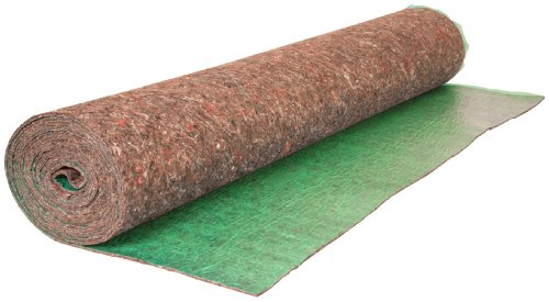 Roberts 70-190A 70-190 Super Felt Insulating Underlayment, 3 mm T, 27-1/3 Ft L X 44 In W, Recycled Fiber, 100 Sq Roll