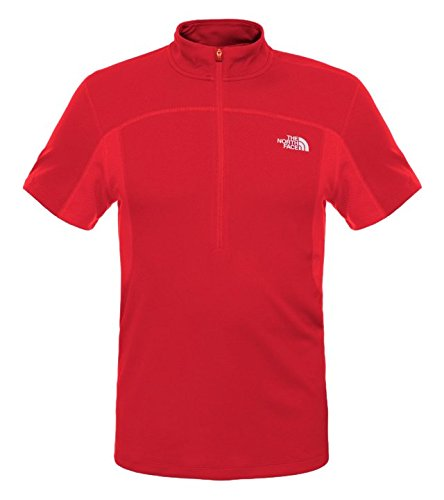 North Face Go Fast T-Shirt 1/2 Zip Homme, Pompeian Red, FR : L (Taille Fabricant : L)