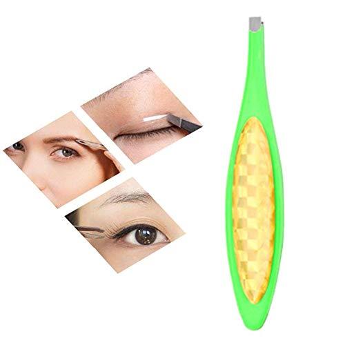 Brucelles Pince Brucelle Produits de Maquillage Professionnel Pince À sourcils Professionnel Meilleure Précision pour Sourcils green