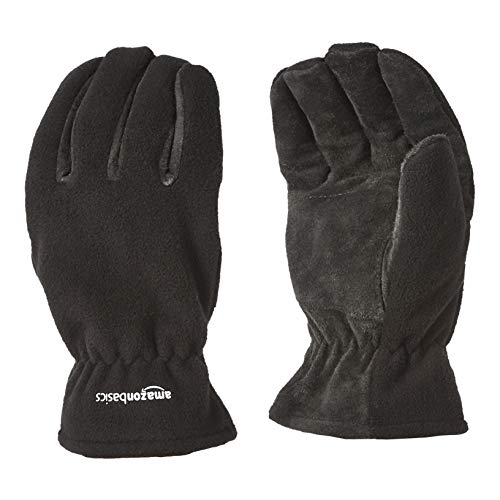AmazonBasics Cold Proof Thermal Winter Work Gloves, Black, L