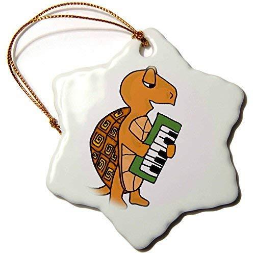 Dant454ty Schildpad spelen Muzikaal Toetsenbord Kerst Ornamenten voor het Huis 2019 voor Vrouwen Vrienden Kids Kerstboom Ornament