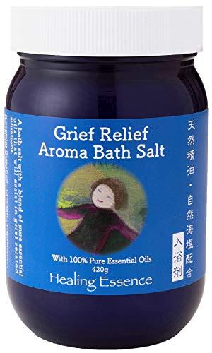 グリーフリリーフアロマバスソルト【無添加 お肌にやさしい 天然成分】入浴剤 うるおい 温浴 420g 計量スプーン付き